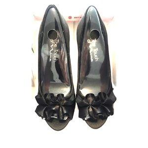 ✨New Nina Black Satin Heels